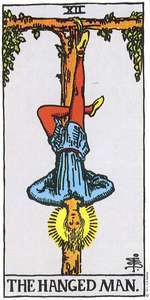 The Hanged Man card in Relationships